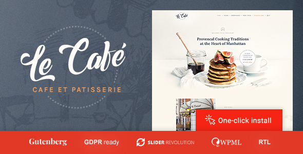 Le Cafe - Bakery & Cafe WordPress Theme