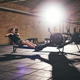 Two sportsmen in light gym working out - PhotoDune Item for Sale
