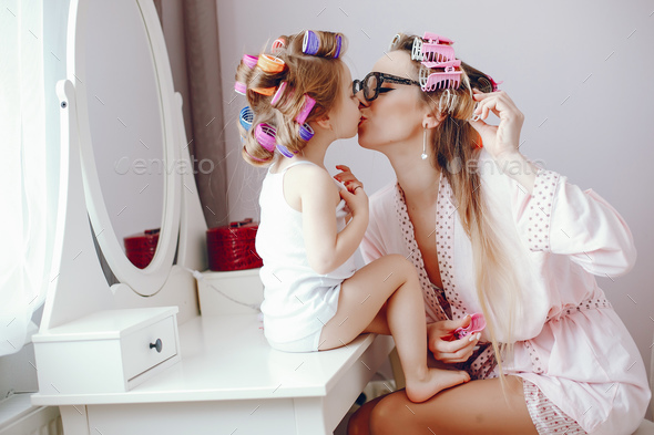 mother with daughter - Stock Photo - Images