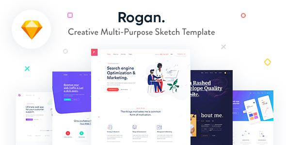 Rogan - Creative Multi-Purpose Sketch Template - Sketch Templates