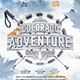 Winter Hiking Flyer Snowshoeing Poster Outdoor Template - GraphicRiver Item for Sale