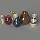 Vase Set 7 pieces. - 3DOcean Item for Sale