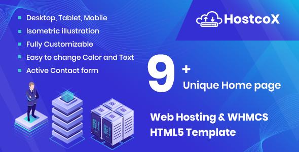 Hostcox - Web Hosting & WHMCS HTML5 Template - Hosting Technology