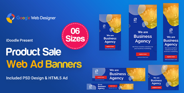 business agency banners ad google web design by idoodle codecanyon