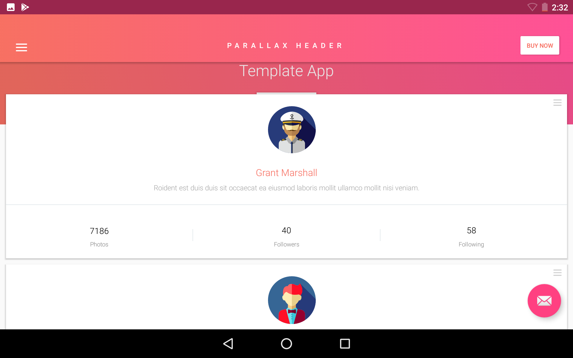 Matta Material Design Android Ui Template Theme App By Creativeform