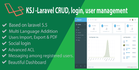 KSJ Laravel CRUD & Login Management - CodeCanyon Item for Sale