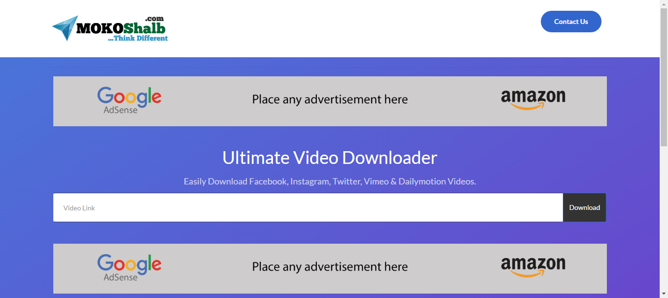 d8d1e44db Ultimate Video Downloader - Facebook, Instagram, Twitter, Vimeo, Dailymotion