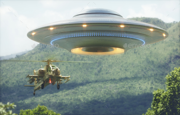 Unidentified Flying Object Worlds War - Stock Photo - Images