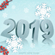 Happy New Year 2019 Background With Snowflakes - GraphicRiver Item for Sale