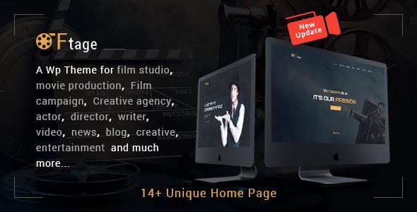 Movie Production, Film studio, Creative & Entertainment Wordpress Theme - Film & TV Entertainment