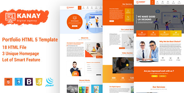 Great Kanay - Portfolio HTML5 Template