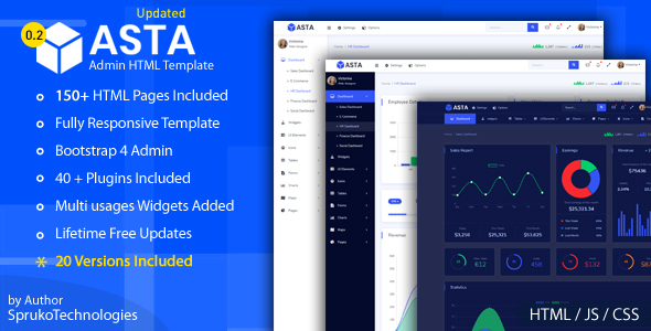 Asta Bootstrap 4 Responsive Admin Html5 Dashboard Template By