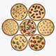 Assorted Pizza Set - 3DOcean Item for Sale