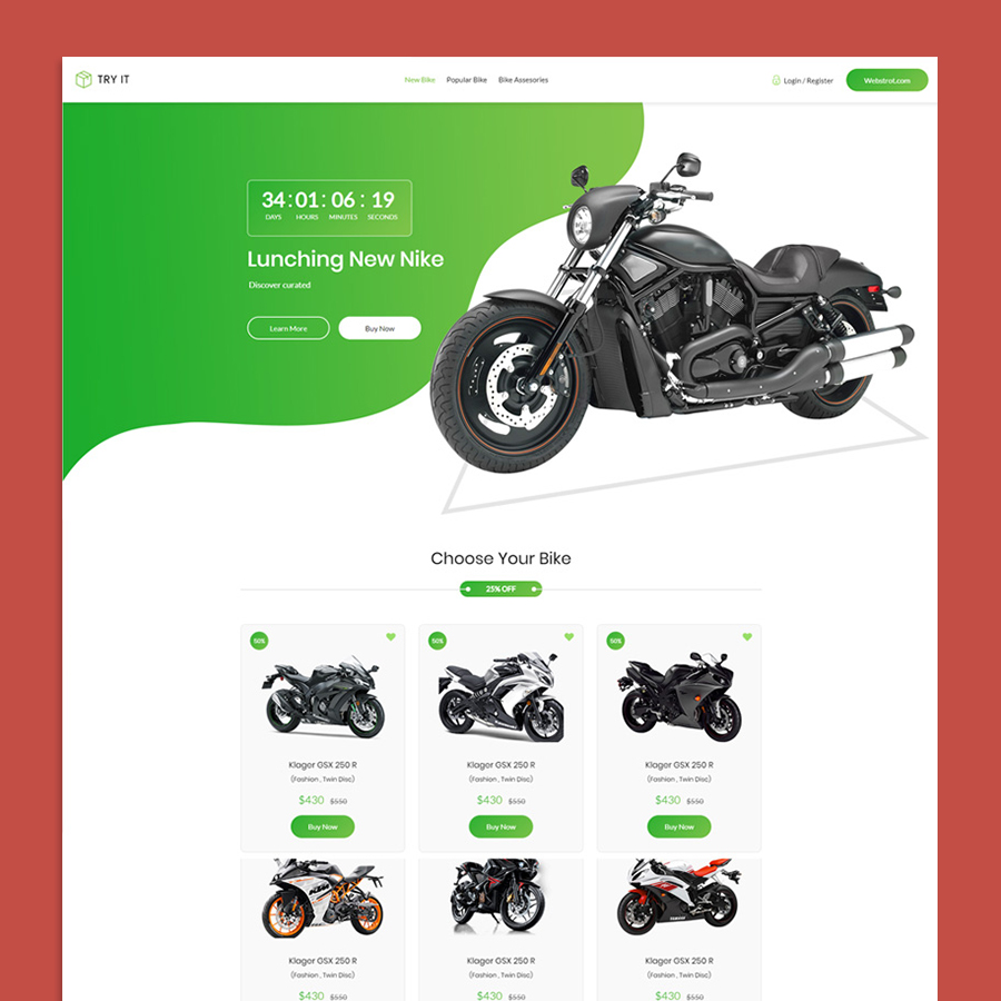 Tryit - Product Offer Landing Page HTML Template - 8