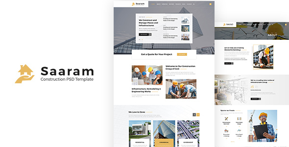 Saaram | Construction PSD Template - Miscellaneous PSD Templates