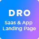 Dro - Software, App, Saas & Product Showcase Landing Page - ThemeForest Item for Sale