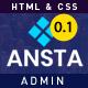 Ansta – Responsive Multipurpose Admin Dashboard Template. - ThemeForest Item for Sale