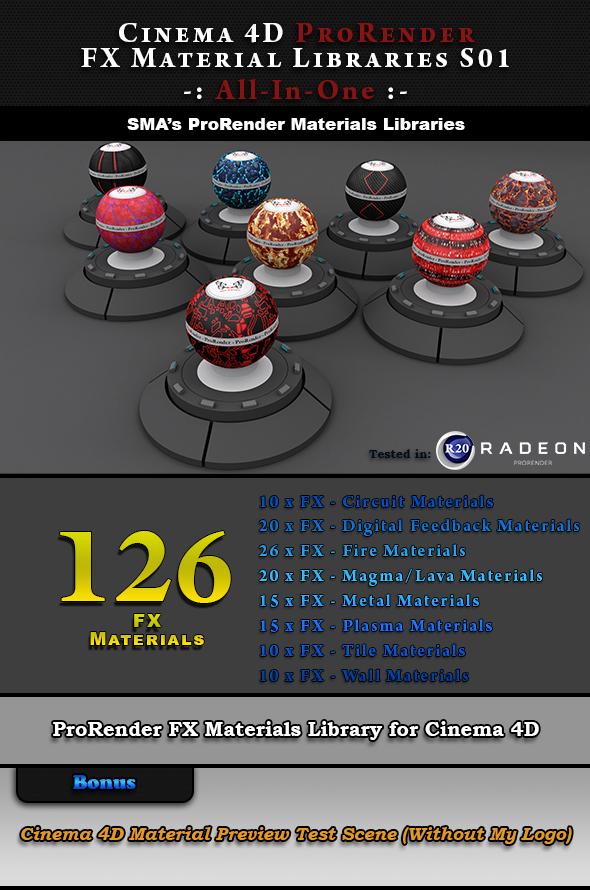 126 ProRender PBR FX Materials for Cinema 4D - 3DOcean Item for Sale