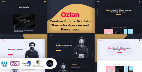 Ozlan - A Creative Minimal Portfolio WordPress Theme for Agencies and Freelancers - Portfolio Creative