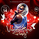 Valentine Party Flyer 2 - GraphicRiver Item for Sale