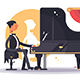 Pianist Man in Luxury Suit Playing Song - GraphicRiver Item for Sale