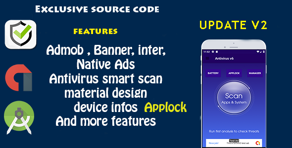 Antivirus + Applock + Booster + Cleaner + AppManager + BatterySaver - CodeCanyon Item for Sale