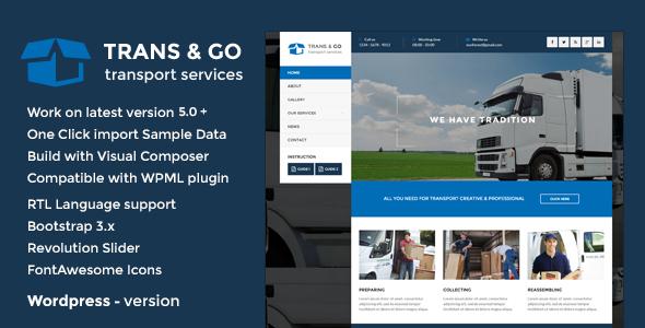 Marvelous TransGo - Transport & Logistics WordPress Theme