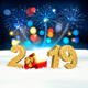Holiday New Year Background With Fireworks - GraphicRiver Item for Sale