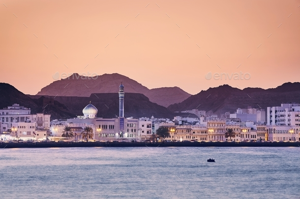 Muscat at golden sunset - Stock Photo - Images