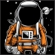 Astronaut Basket Ball T-Shirt Design - GraphicRiver Item for Sale