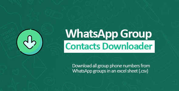 WhatsApp Groupe Contacts Downloader