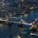 Aerial view of Tower Bridge in London at night - PhotoDune Item for Sale