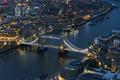Aerial view of Tower Bridge in London at night - PhotoDune Item for Sale