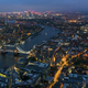 Aerial view of river Thames in London at night - PhotoDune Item for Sale