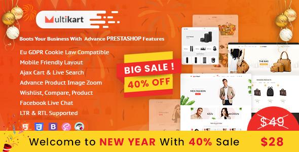 Multikart Prestashop Theme for Fashion | Watches| Bags | Shoes | Accessories - PrestaShop eCommerce
