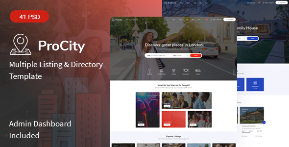 Procity - Multiple Listing & Directory PSD Template