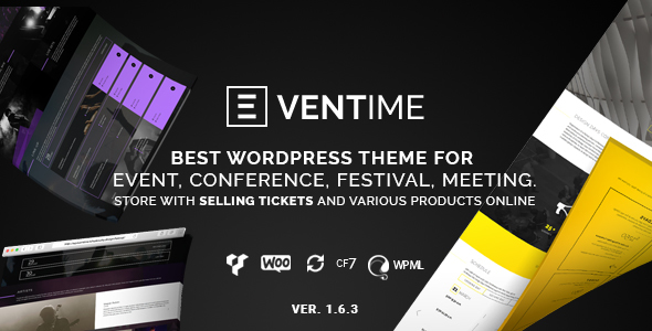 Eventime - Conference, Event, Fest, Ticket Store Theme - Events Entertainment