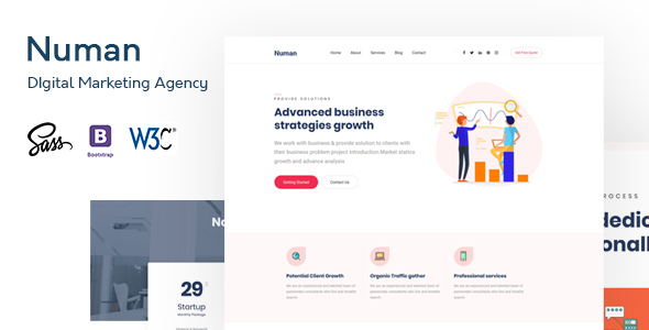 Numan- Digital & Marketing Agency HTML Template