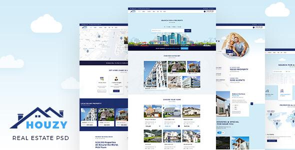 houzy real estate listing psd template by buddhathemes themeforest