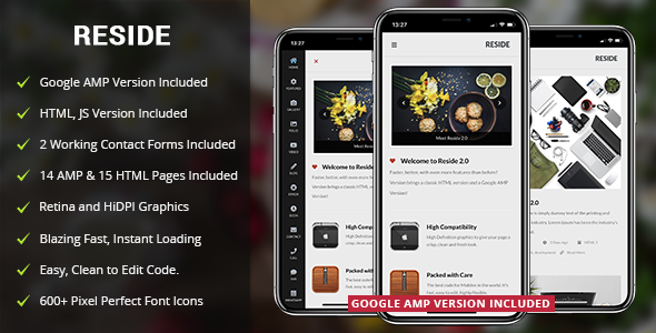 Reside Mobile and Google AMP Template by Enabled
