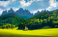 San Giovanni or St Johann in Ranui chapel, Funes Valley, Dolomit - PhotoDune Item for Sale