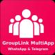 GroupLink MultiApp - WhatsApp & Telegram - Android native App
