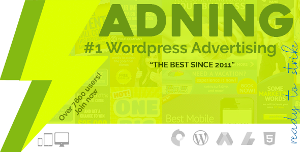Adning Advertising - Professional, All In One Ad Manager for Wordpress - CodeCanyon Item for Sale