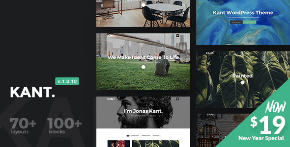 Kant - A Multipurpose WordPress Theme for Startups, Creatives and Freelancers - Creative WordPress