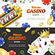 Casino Banner Set - GraphicRiver Item for Sale