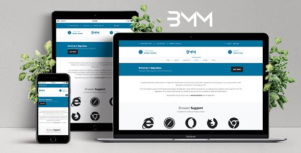 Bootstrap Mega Menu - Responsive Dropdown Mega Menu for Bootstrap 4 - CodeCanyon Item for Sale
