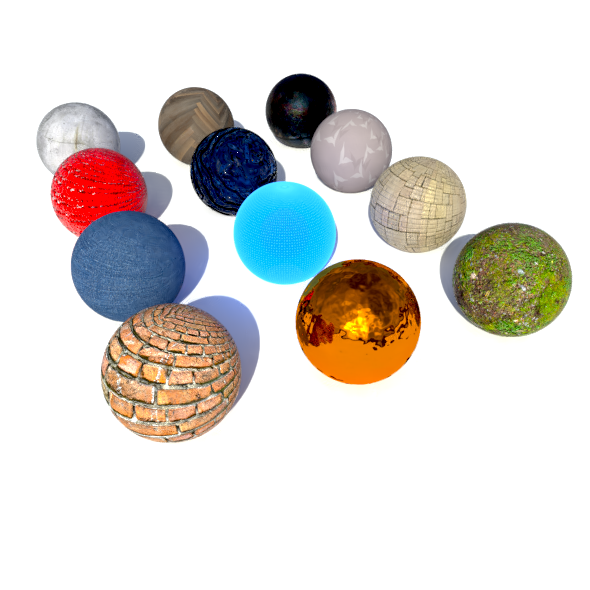 Realistic Blender Materials Pack - 3DOcean Item for Sale