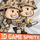 Brown Army 2D Game Character Sprite - GraphicRiver Item for Sale