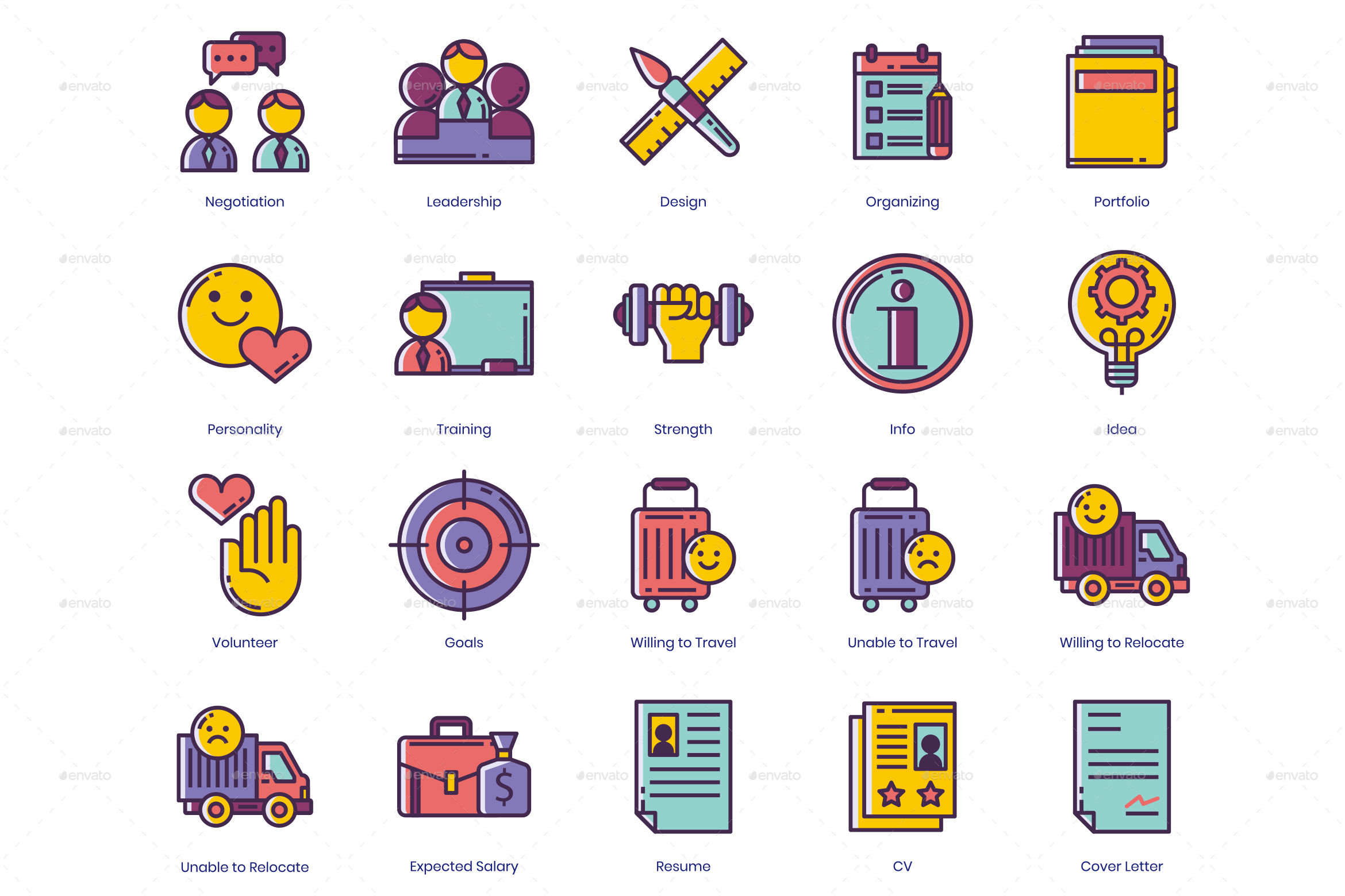 Resume Icons GR 1