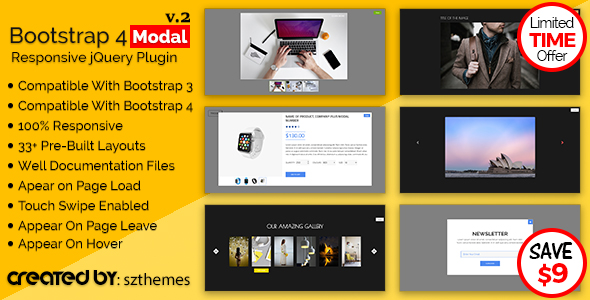Bootstrap 4 Modal Responsive jQuery Plugin - CodeCanyon Item for Sale